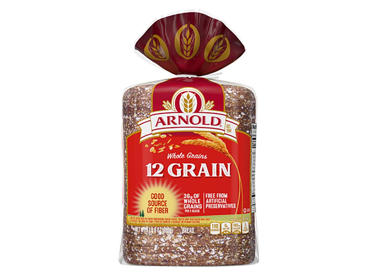loaf of arnold 12 grain bread