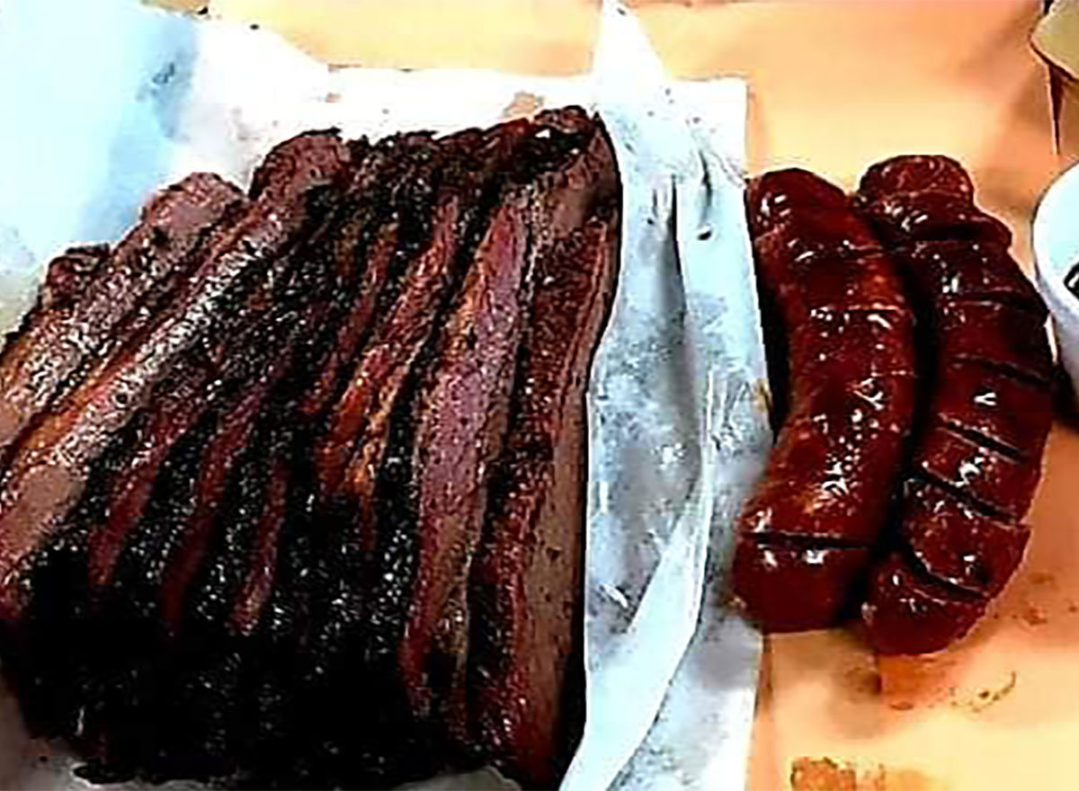 brisket and hot links