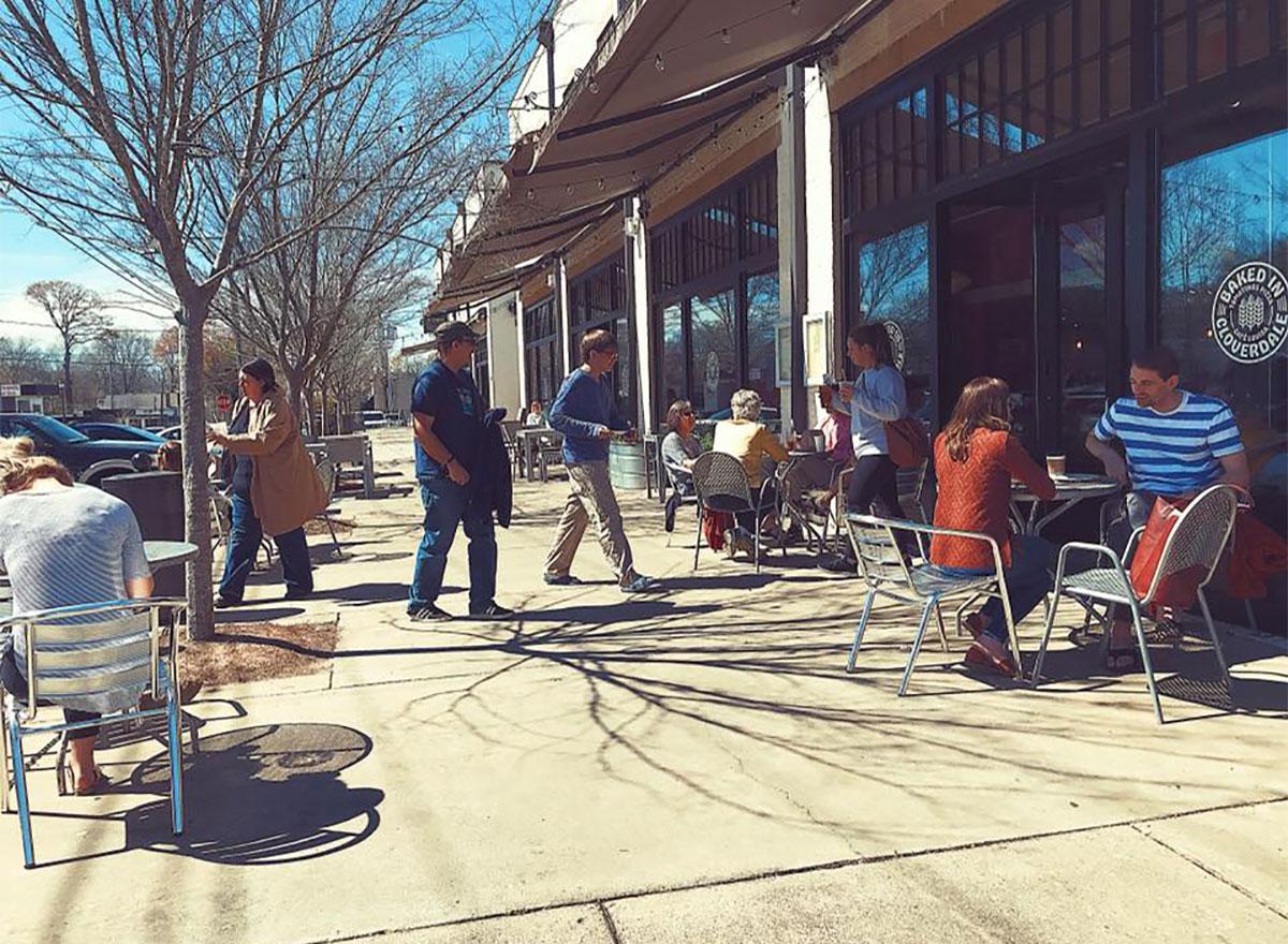 outdoor seating at cafe louisa in alabama