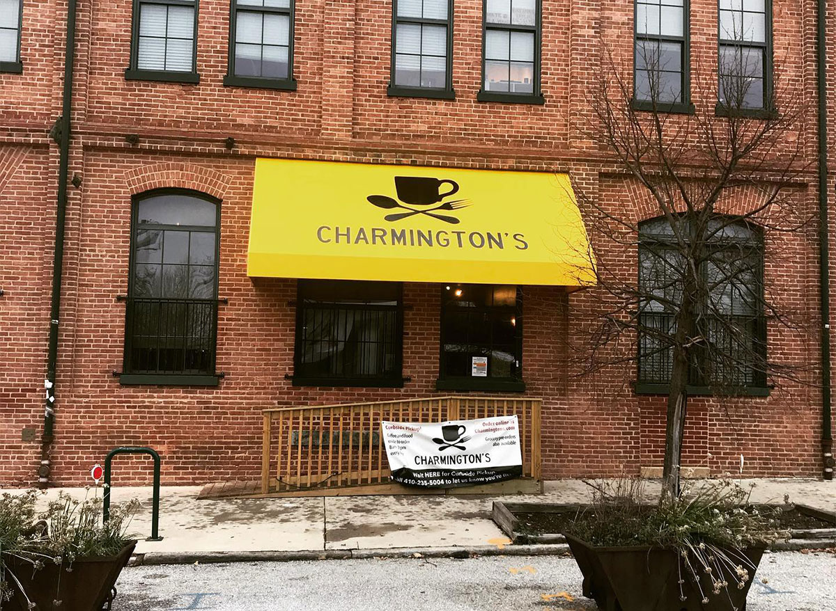 exterior of charmingtons in baltimore
