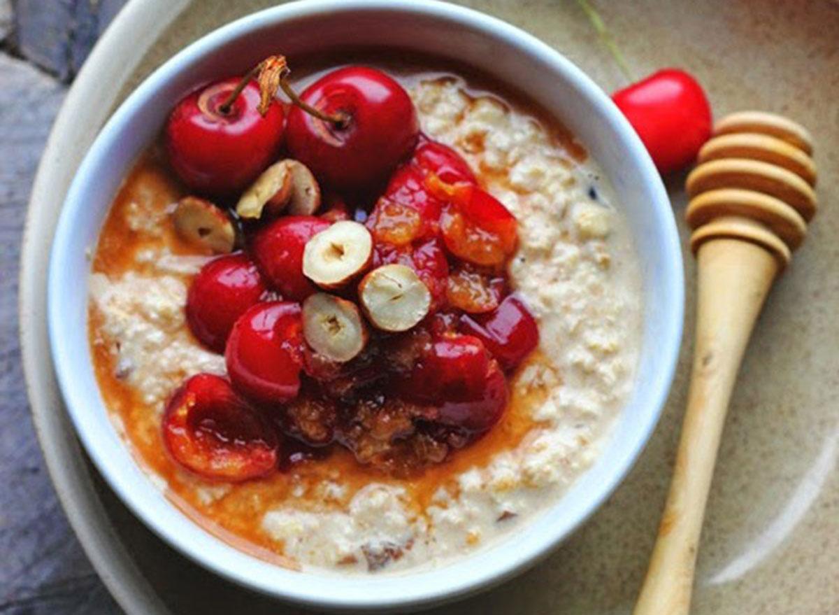 cherry almond oats