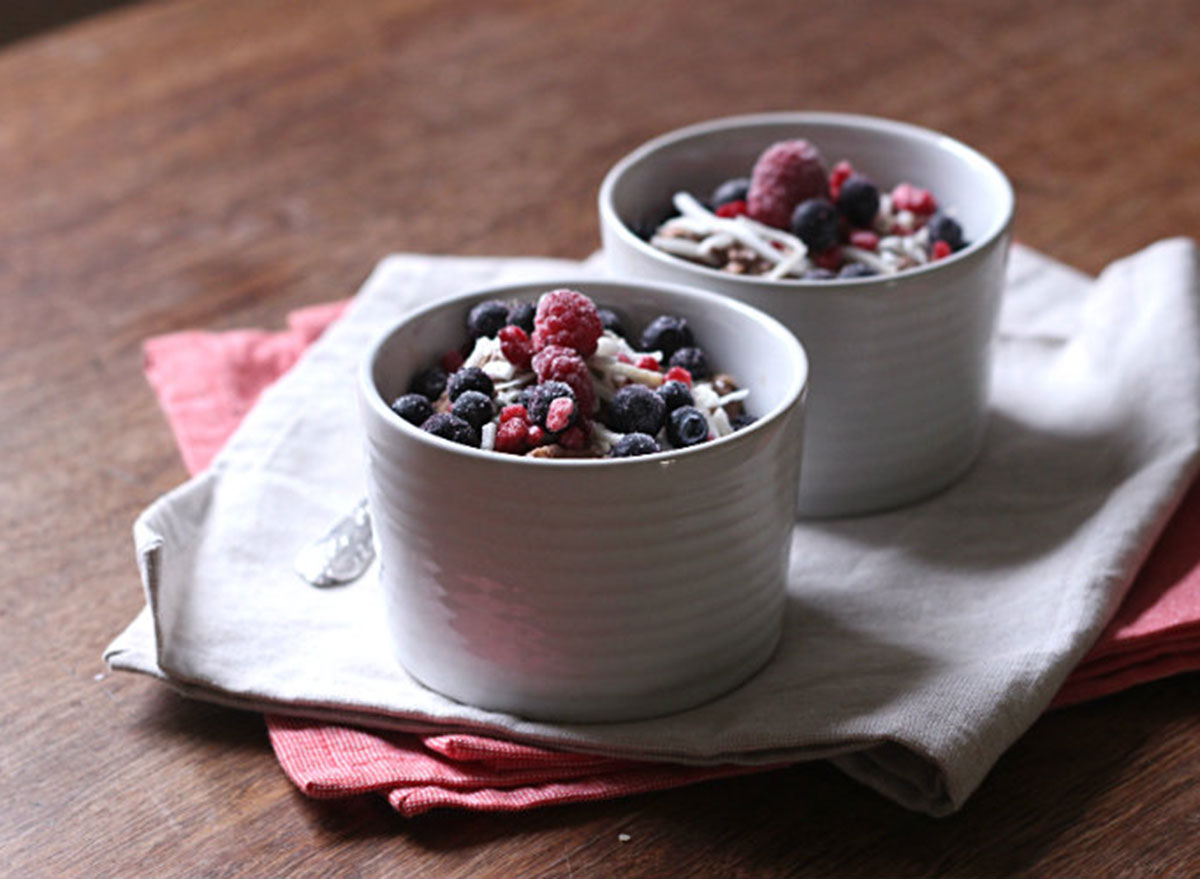 chocolate oat chia pudding to her core