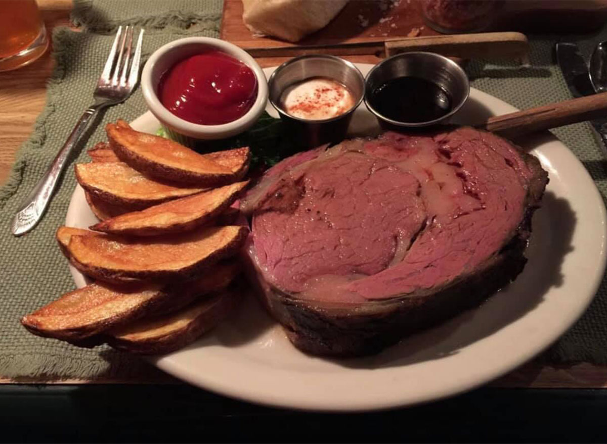 prime rib with fries