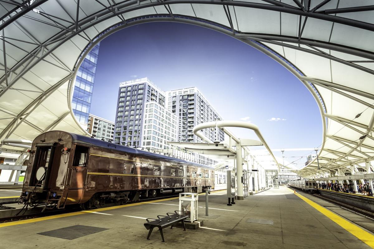 Old railcar at Denver Union station