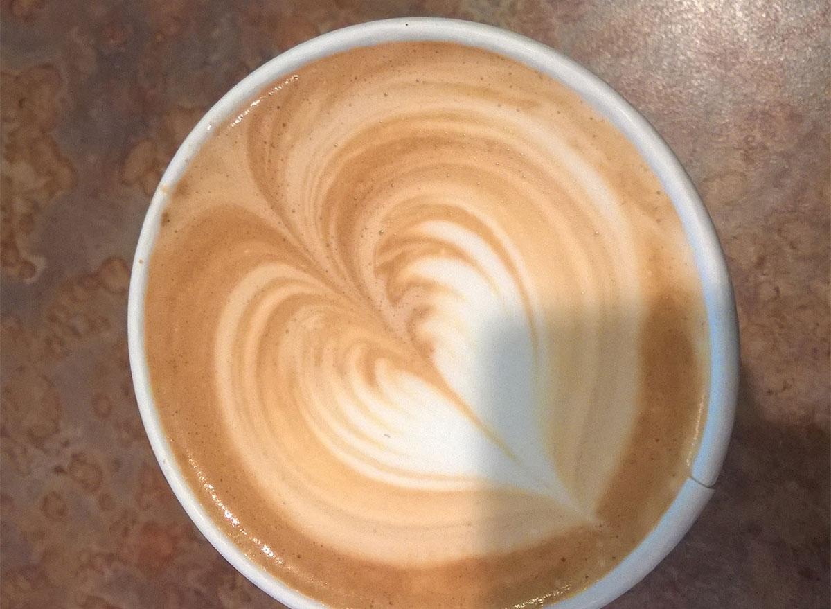 latte with heart in latte art