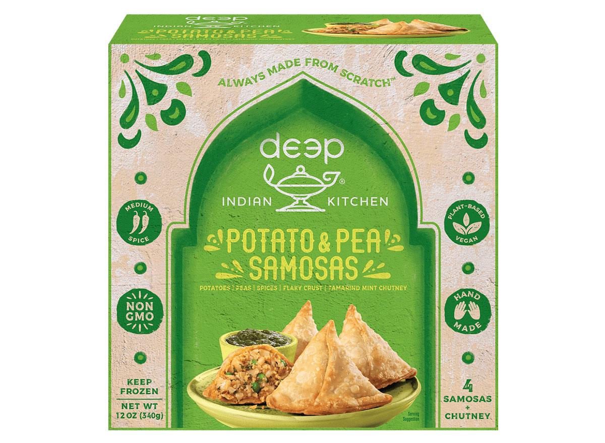 deep indian kitchen potato and pea samosas