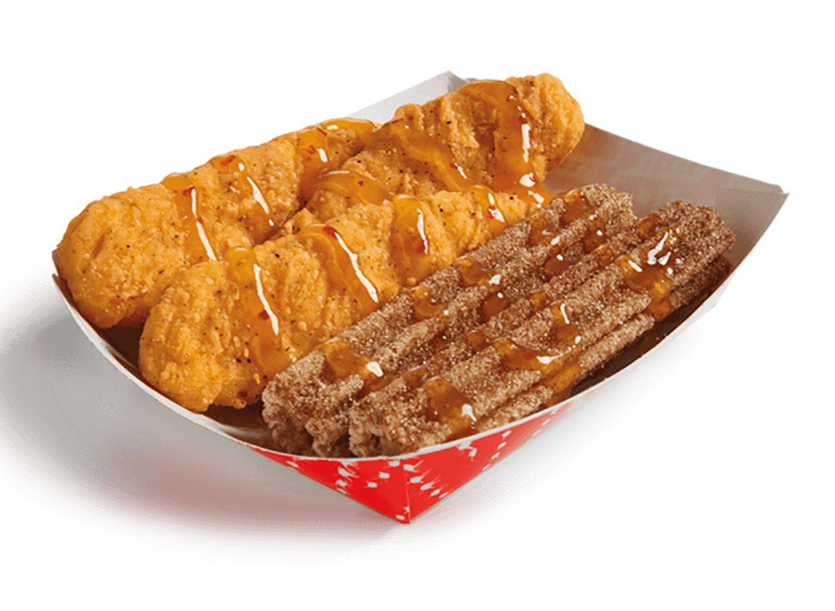 del taco chicken and churros box
