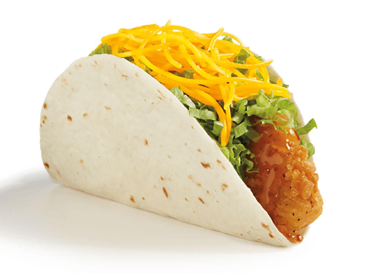 del taco honey mango crispy chicken taco
