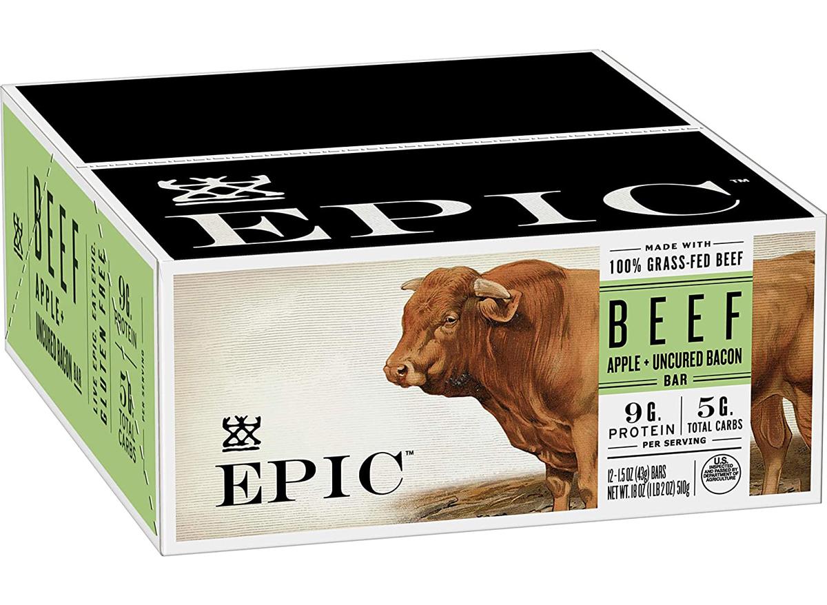 epic beef apple protein snack