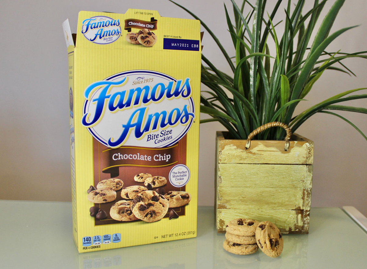 famous amos chocolate chip chocolate chip cookies bag