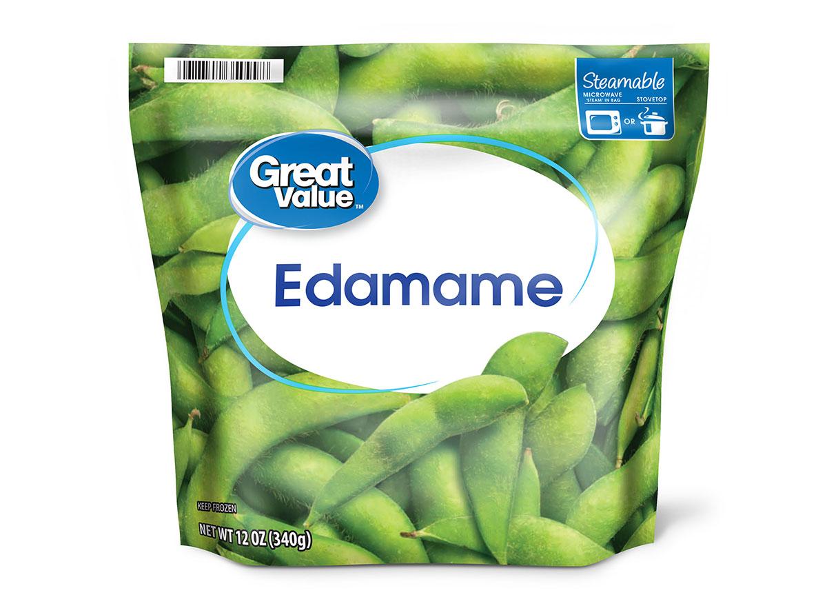 bag of great value frozen edamame