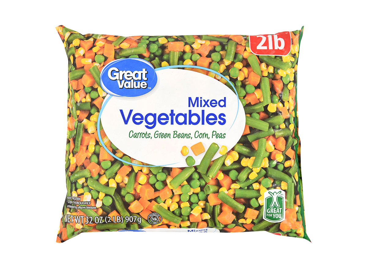 bag of great value frozen mixed vegetables