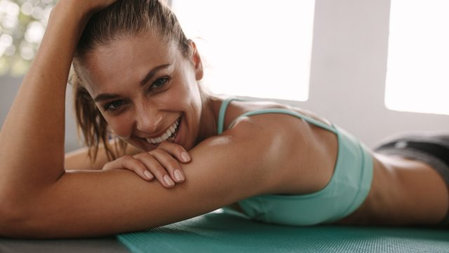 happy woman after working out