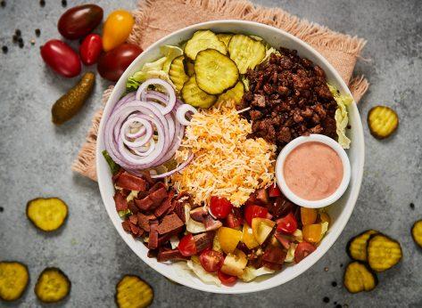 healthy burger bowl