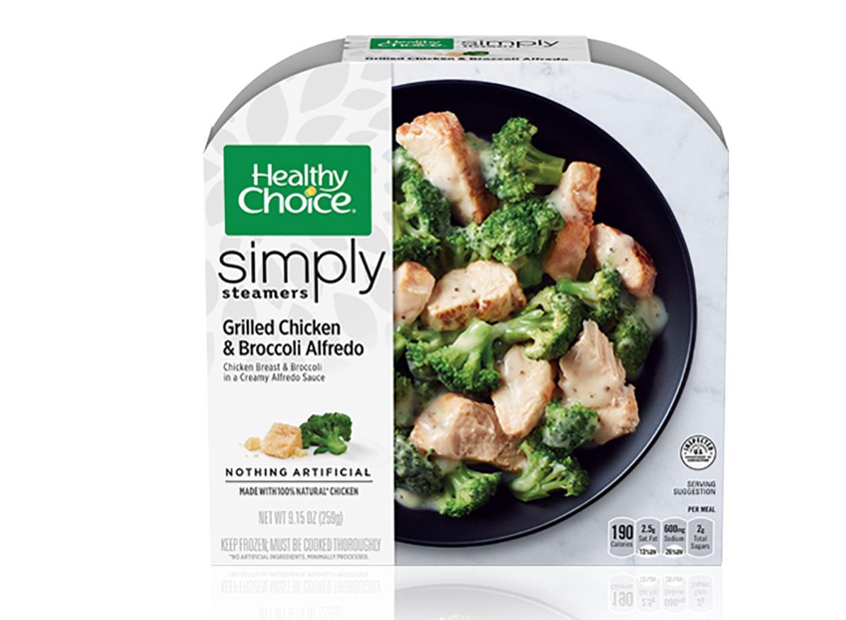 healthy choice frozen chicken and broccoli alfredo