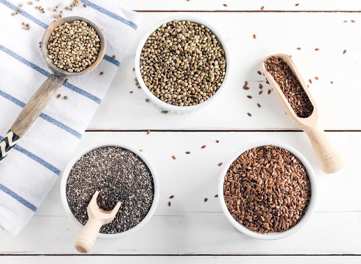 hemp chia flax seeds