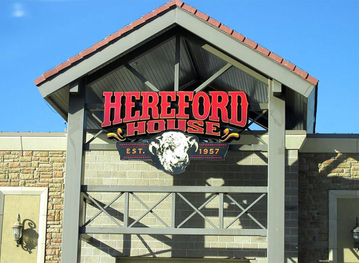 exterior of Hereford House restaurant