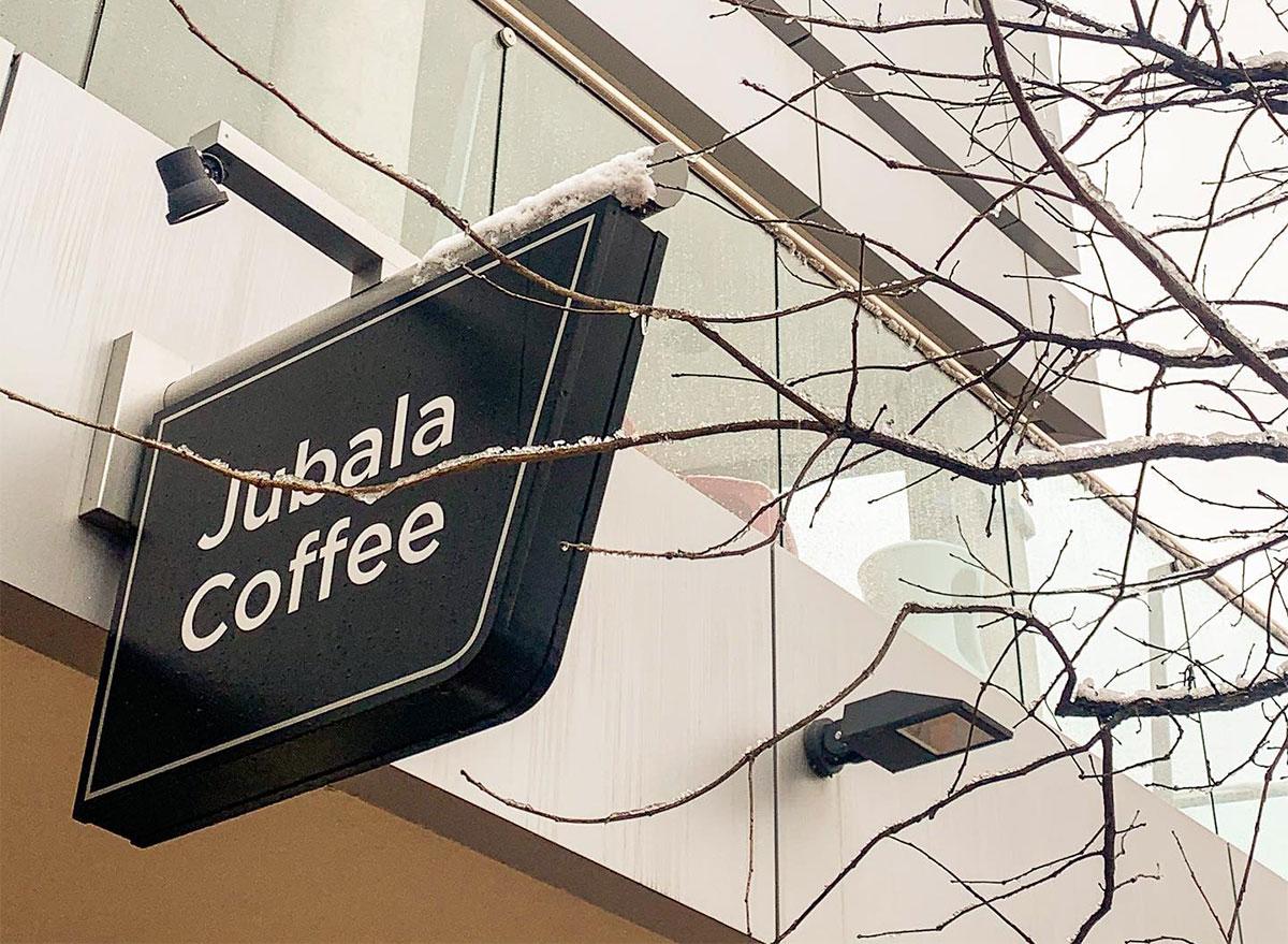 jubala coffee exterior sign