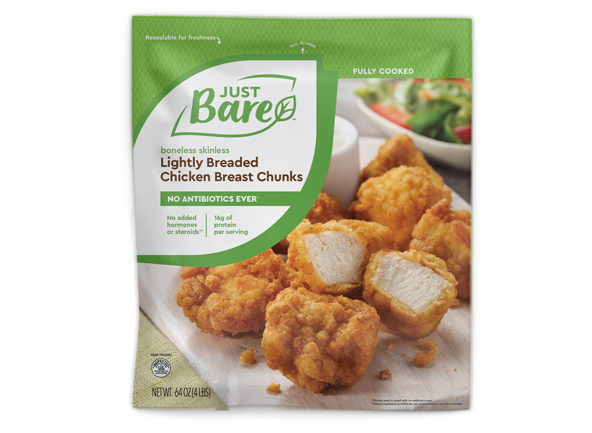 bag of just bare frozen chicken nuggets