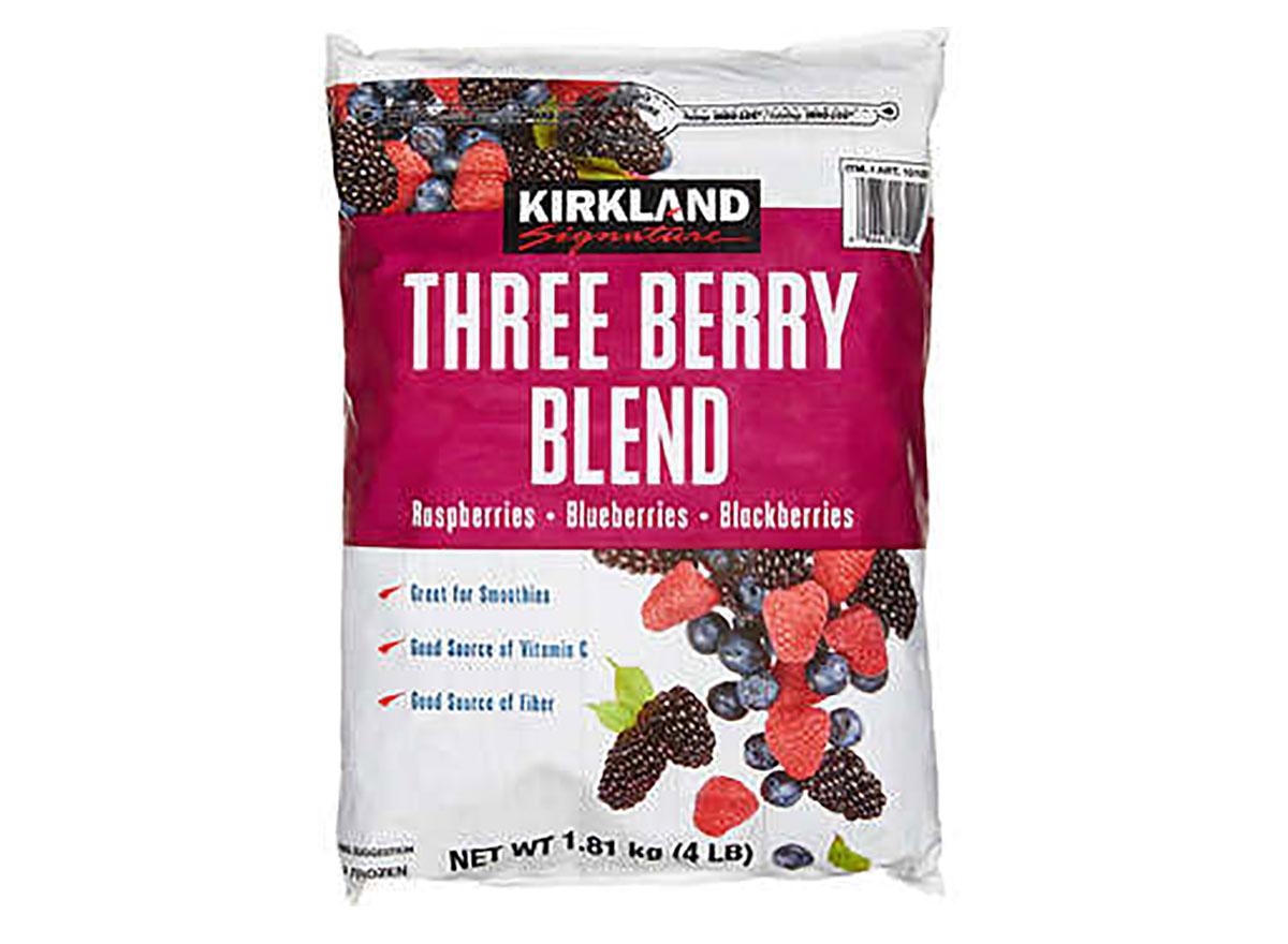 kirkland signature frozen three berry blend