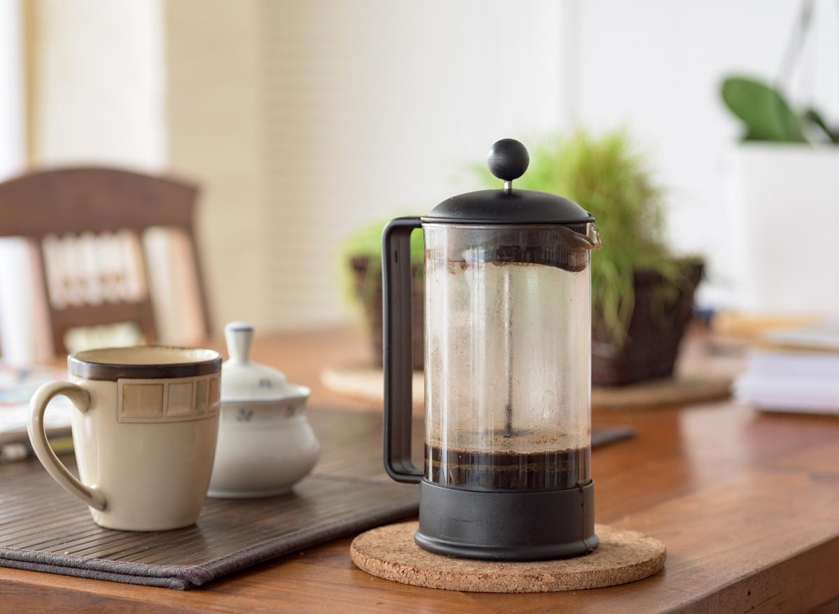 leftover coffee from french press