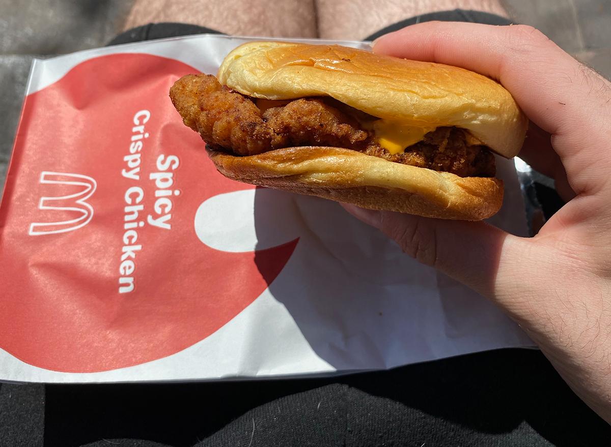 mcdonalds spicy crispy chicken sandwich