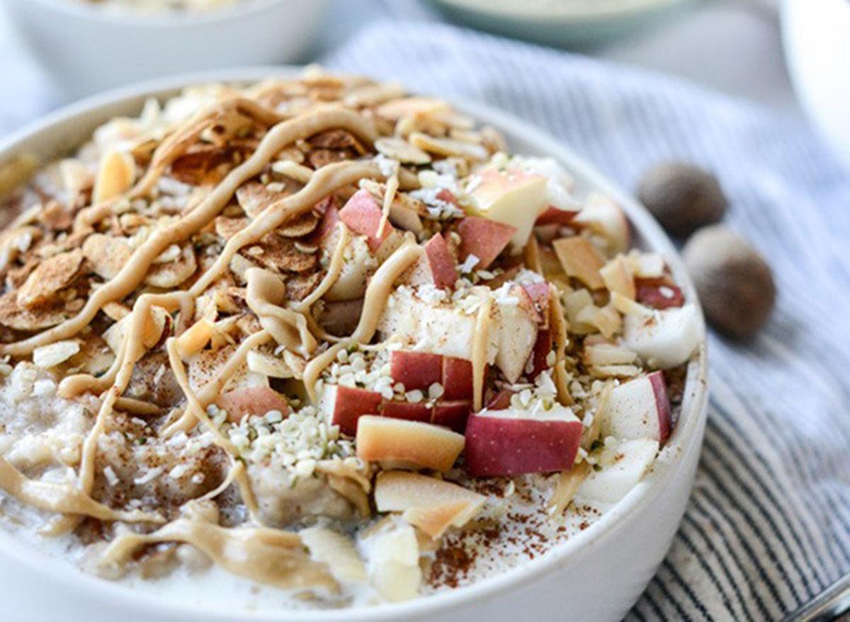 overnight oats Slow Cooker Apple Cinnamon
