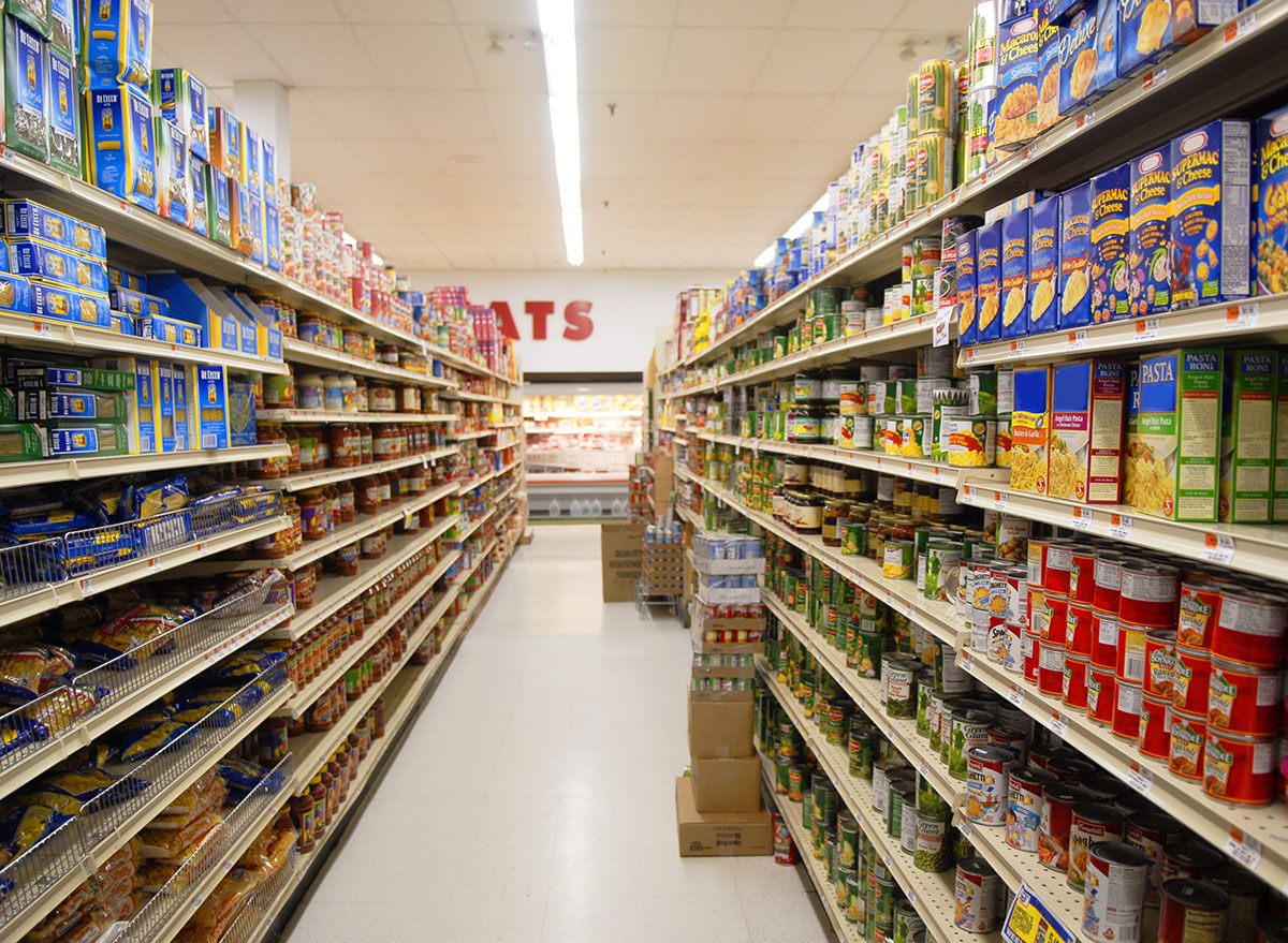 pasta aisle