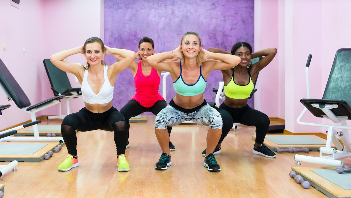 women doing prisoner squats
