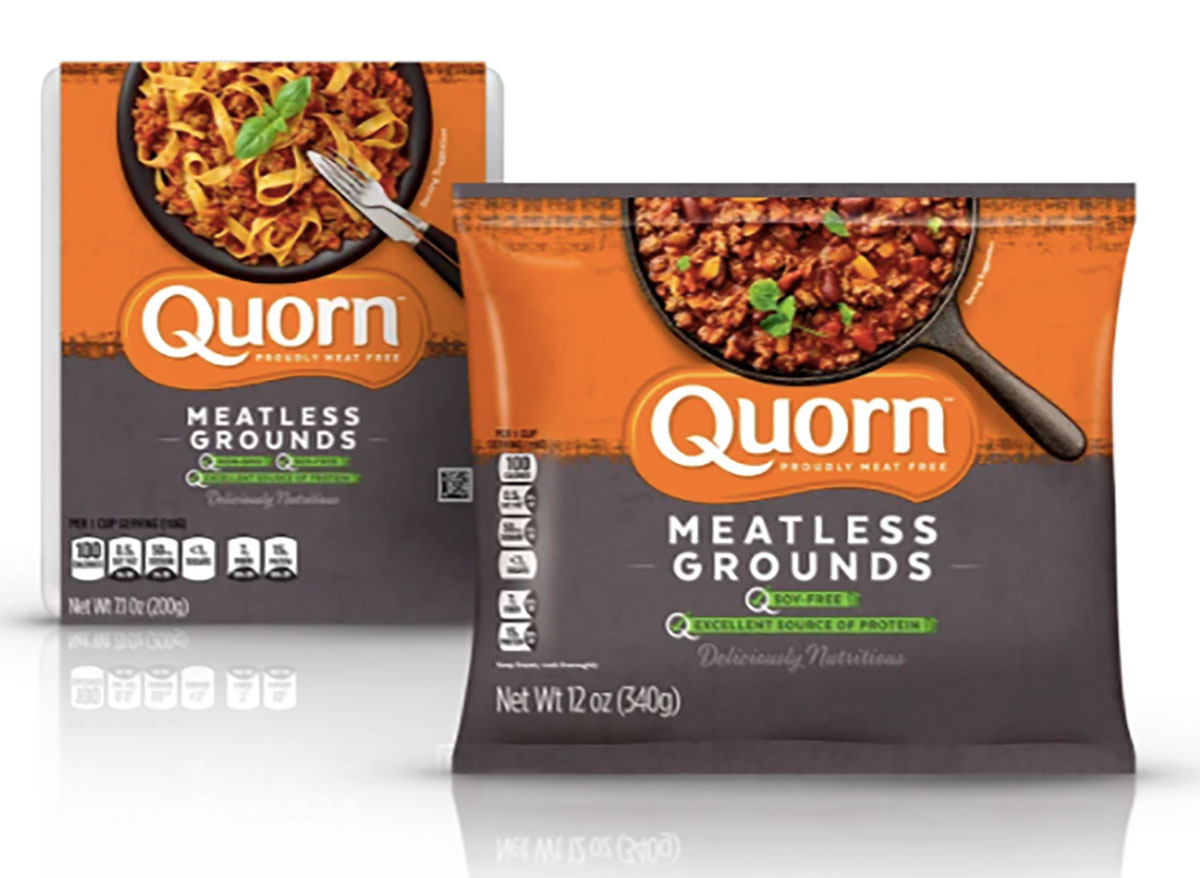 packages of quorn meatless grounds