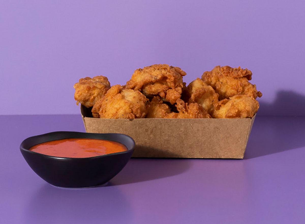 shake shack korean chicken bites with dipping sauce
