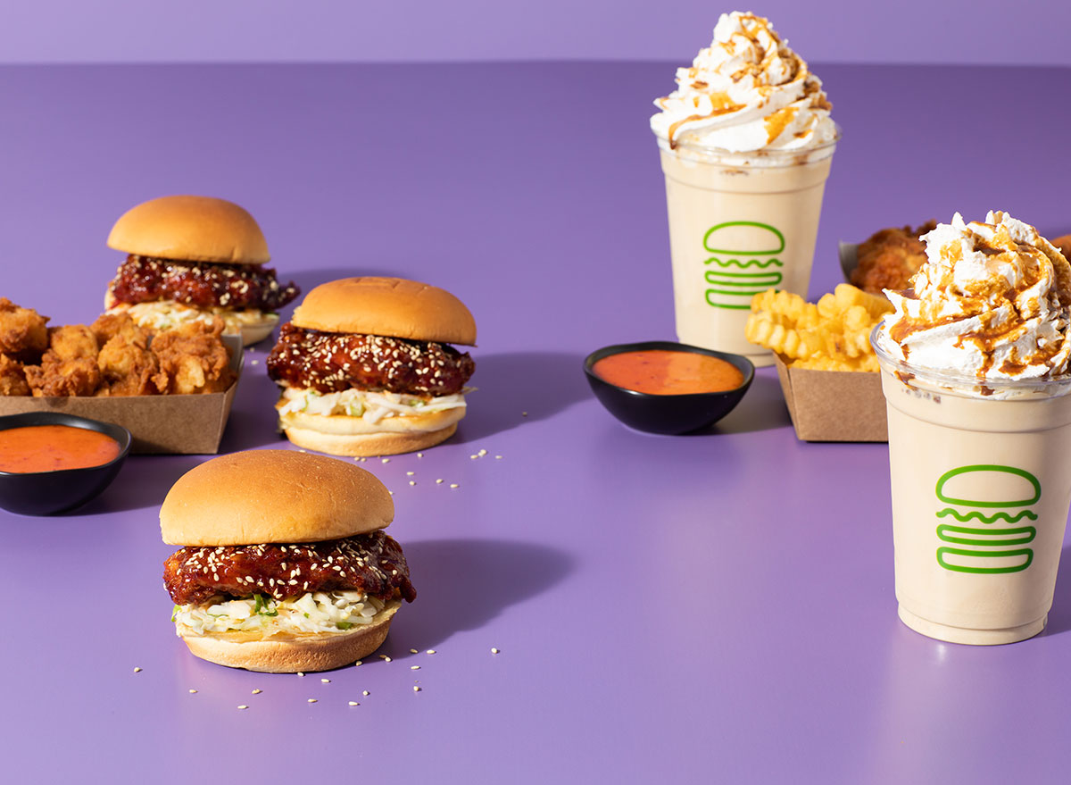 shake shack korean menu items