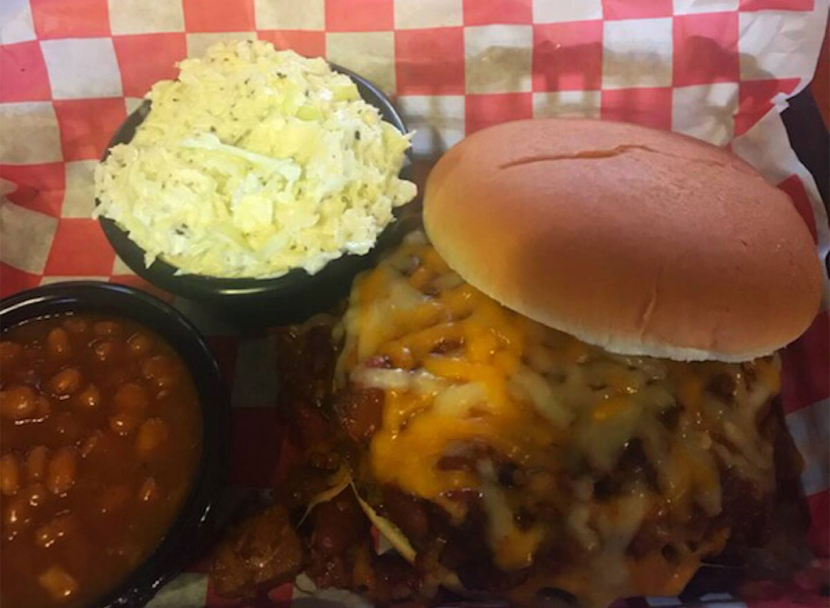 shivers barbecue sandwich with coleslaw
