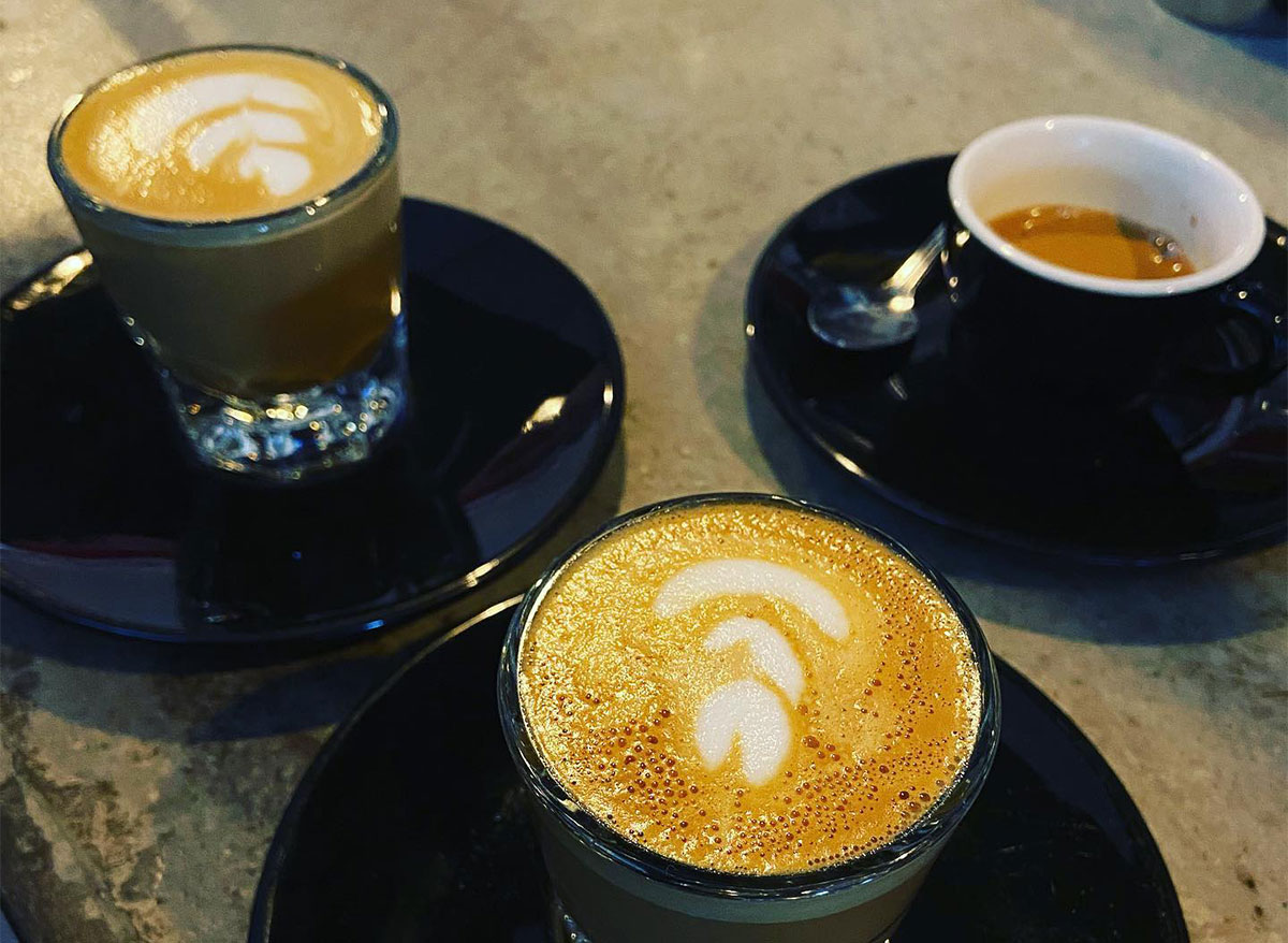 three cups of lattes