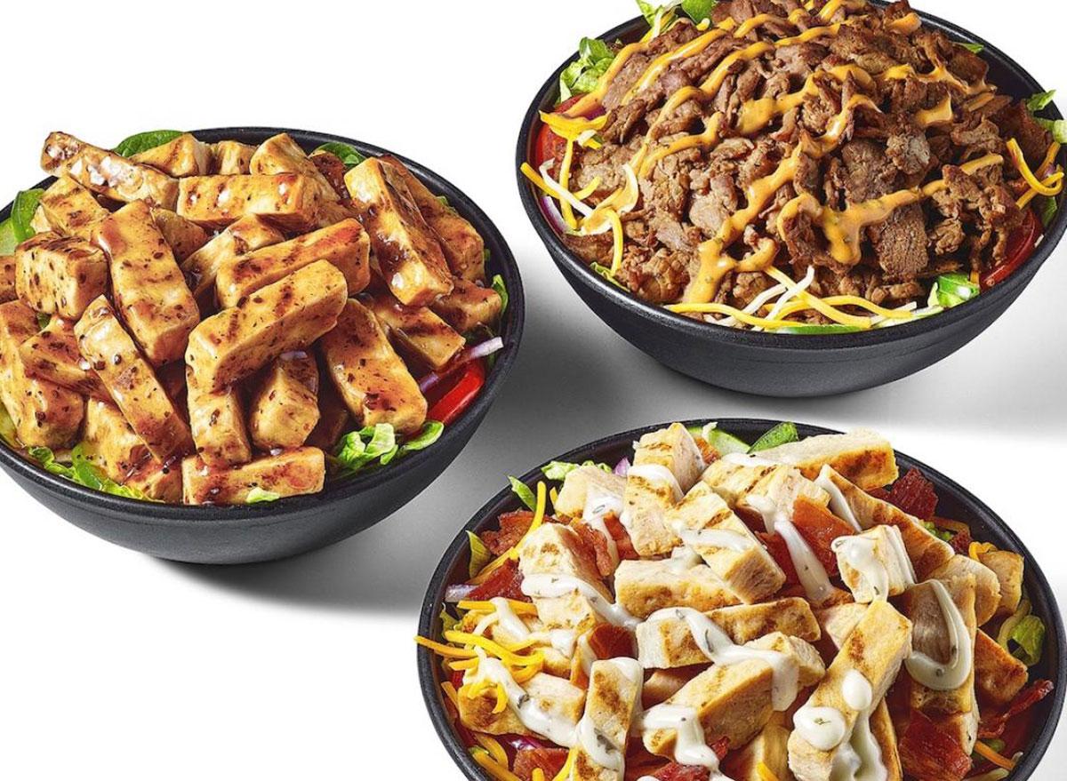 subway protein bowls