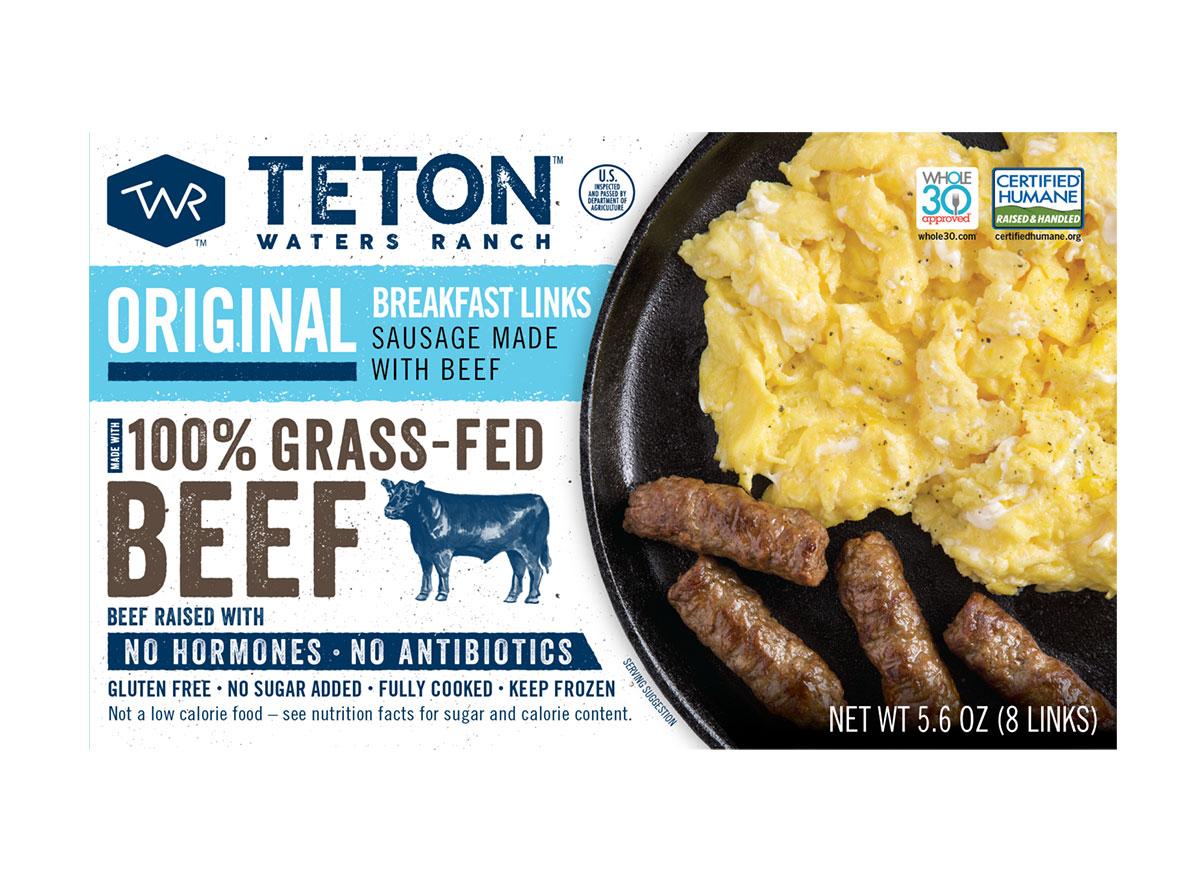 package of teton waters ranch breakfast sausage links