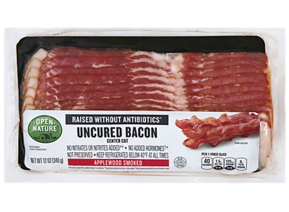 albertsons uncured bacon