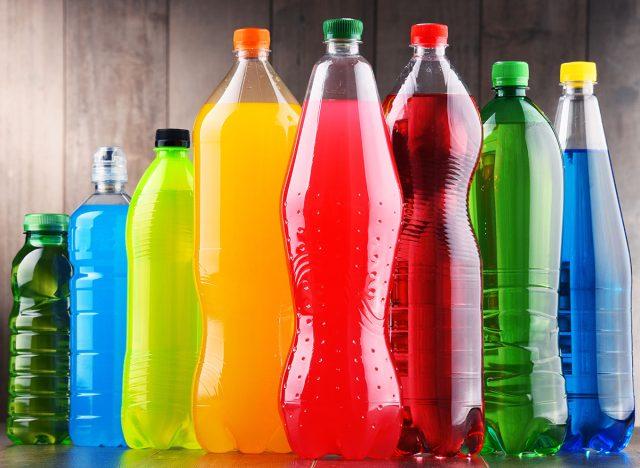 colorful bottled soft drinks