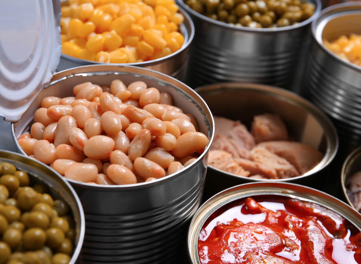 canned foods beans vegetables