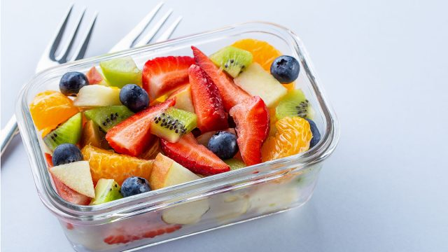 fruit salad in small container