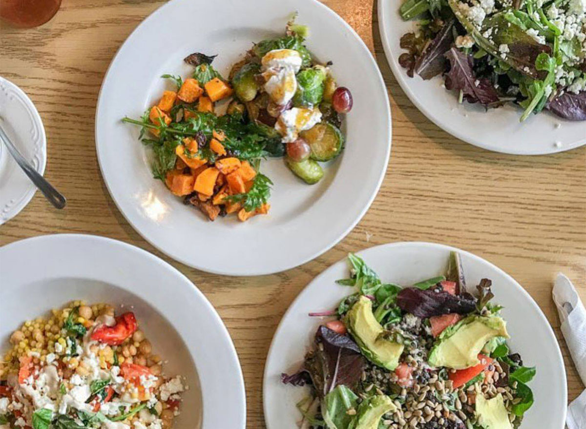 plates of grains and vegetables