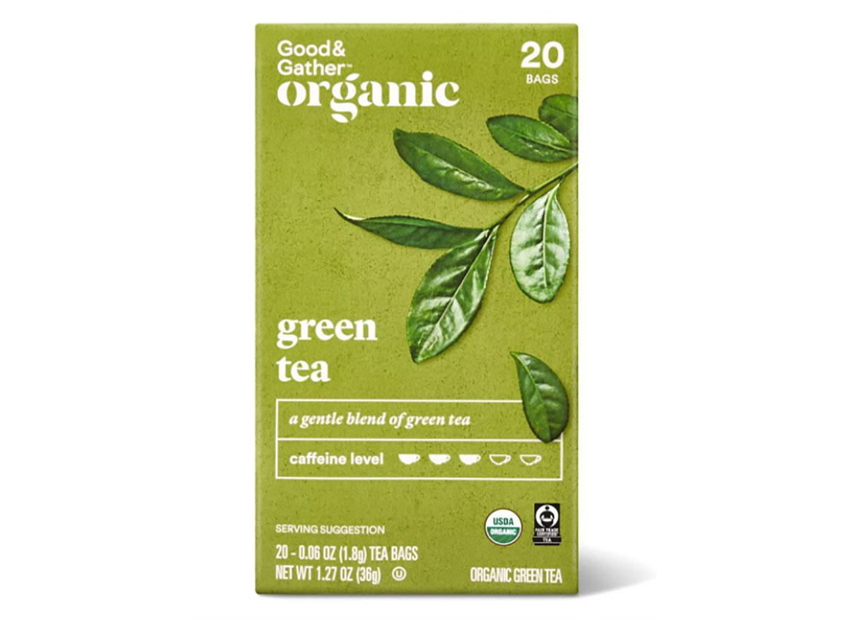 box of target good and gather green tea