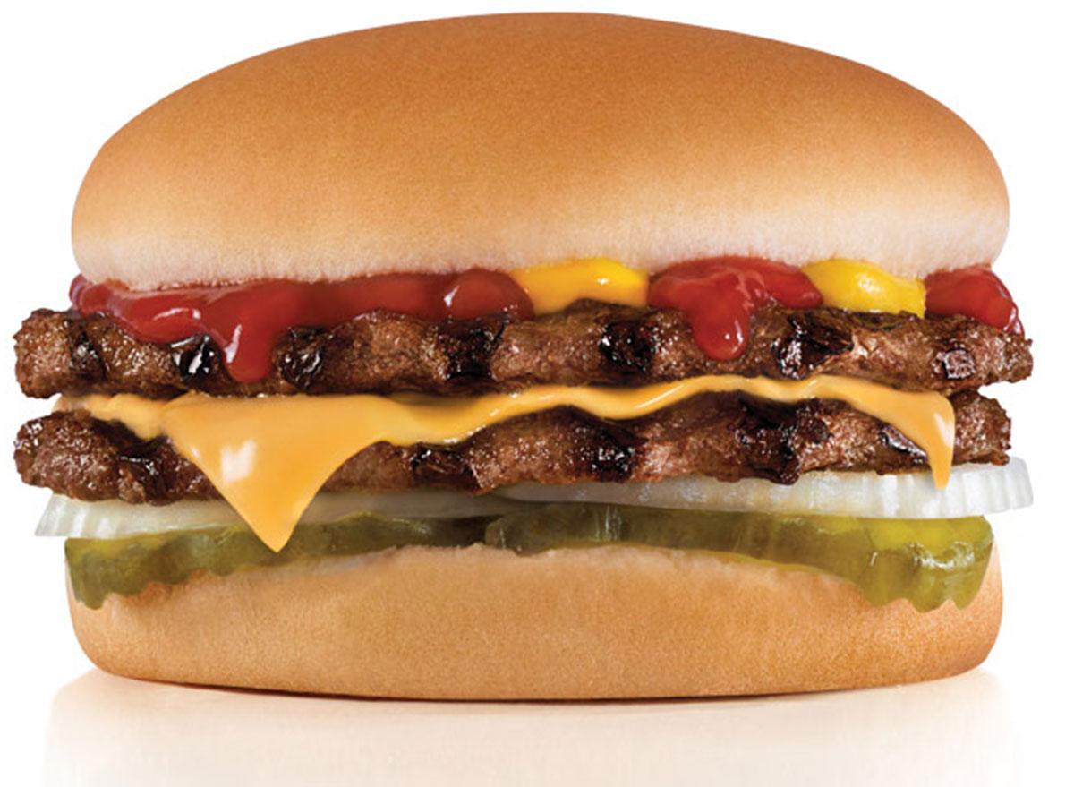 hardees double cheeseburger