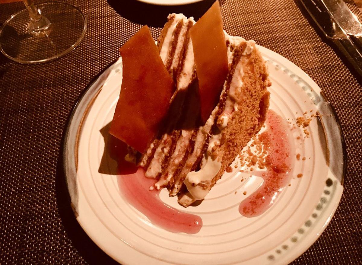 honey cake on plate