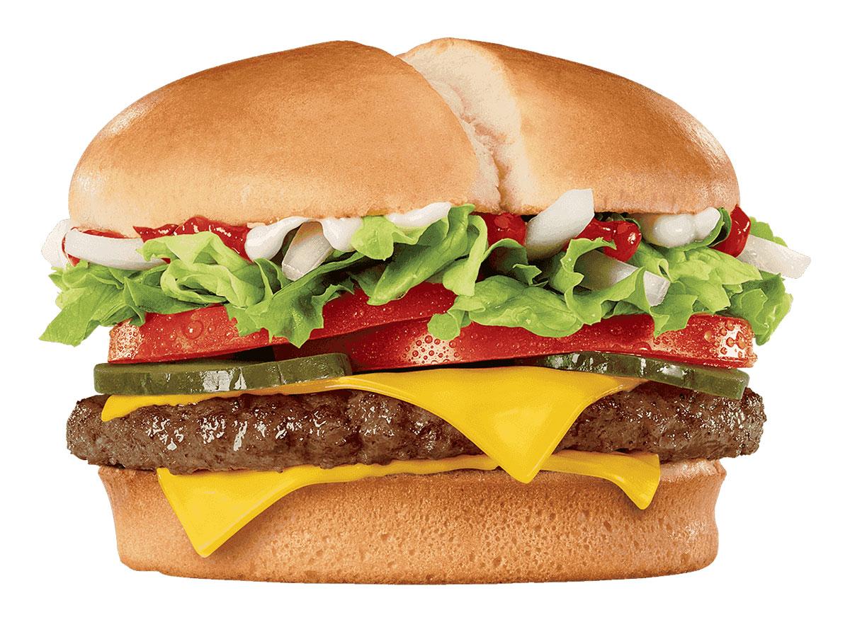 jack in the box jumbo jack cheeseburger
