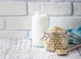 jar of oat milk
