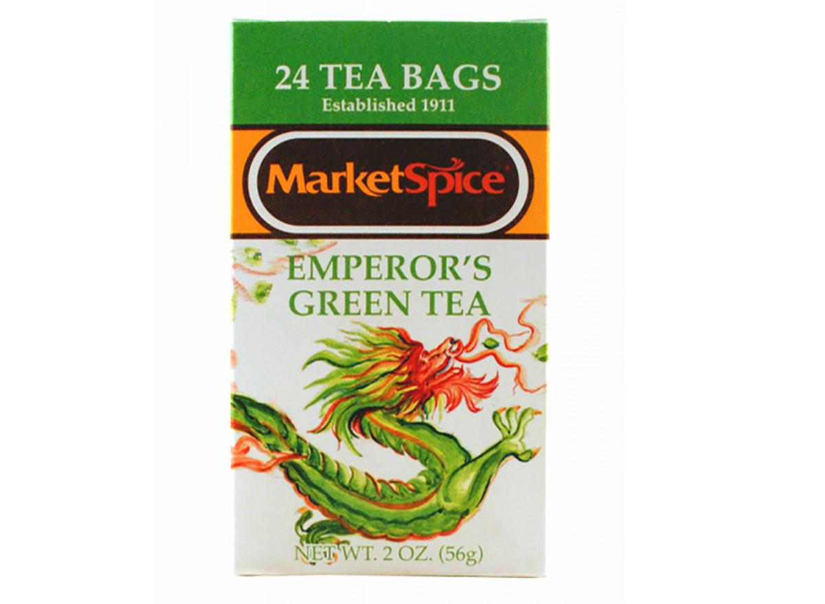 box of marketspice green tea