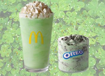 mcdonalds shamrock shake with mcflurry