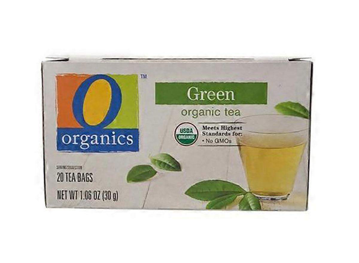 box of o organics green tea