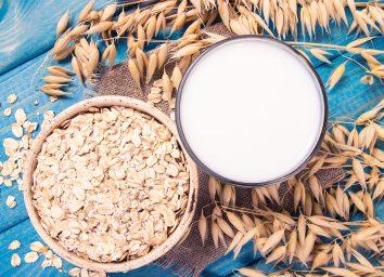 oat milk close-up